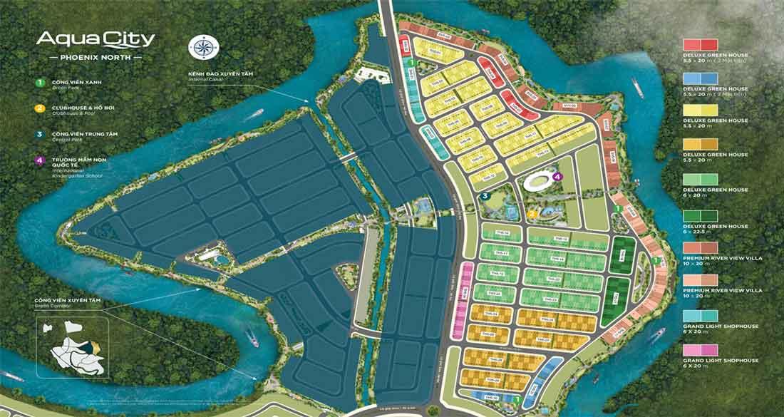 Mặt bằng Aqua City Phoenix Nort Đảo Phượng Hoàng