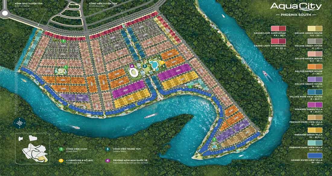 Mặt bằng Aqua City Phoenix South Đảo Phượng Hoàng