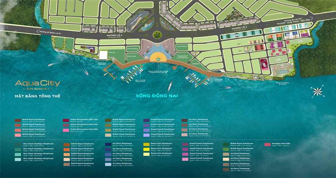 Mặt bằng Aqua City Sun Harbor1 Aqua Marina