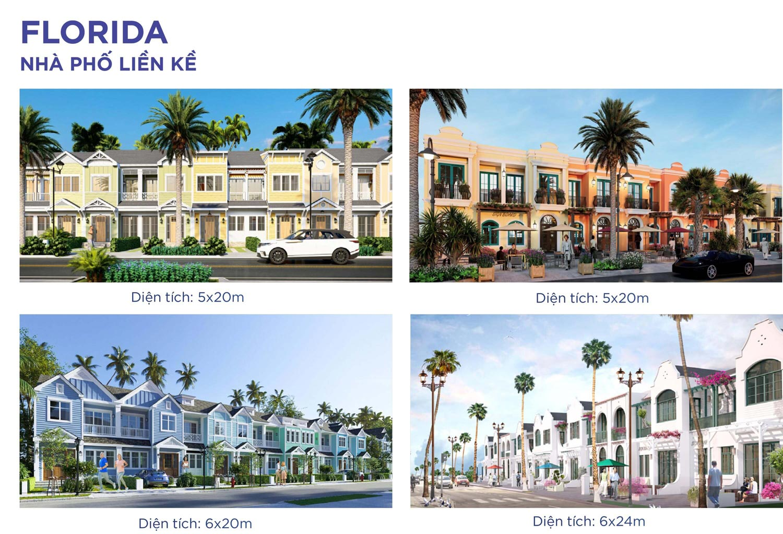 Mẫu Nhà phố Florida NovaWorld Phan Thiết Bình Thuận Novaland