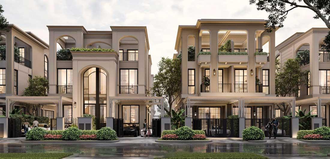 Thiết kế 3 Biệt thự song lập Aqua City Phoenix Central Đảo Phượng Hoàng