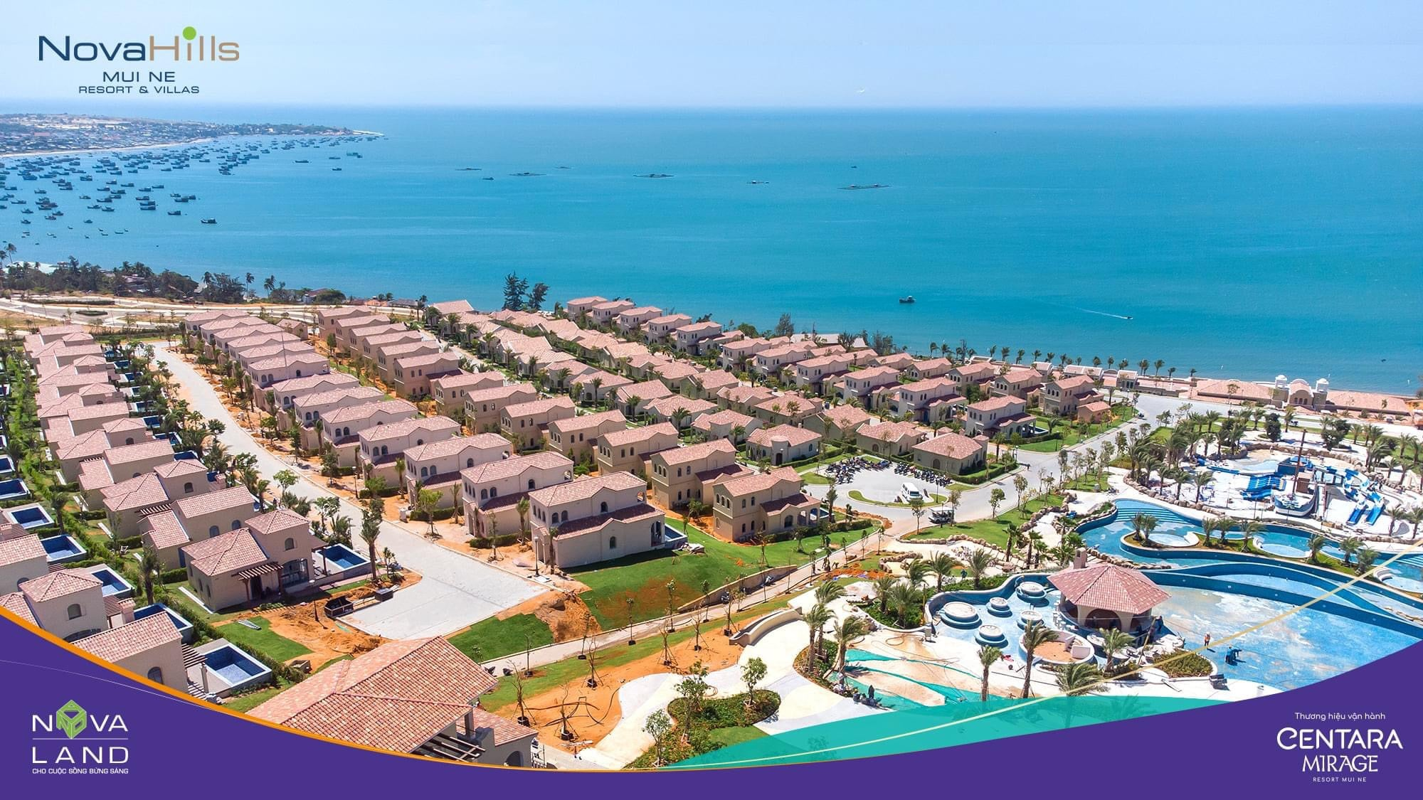 Phối cảnh NovaHills Mũi Né Resort & Villas tháng 3/2021