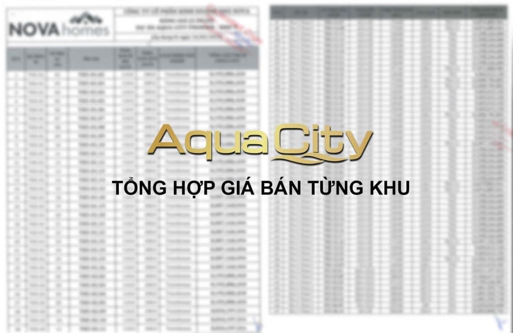 Giá bán Aqua City Novaland Đảo Phượng Hoàng