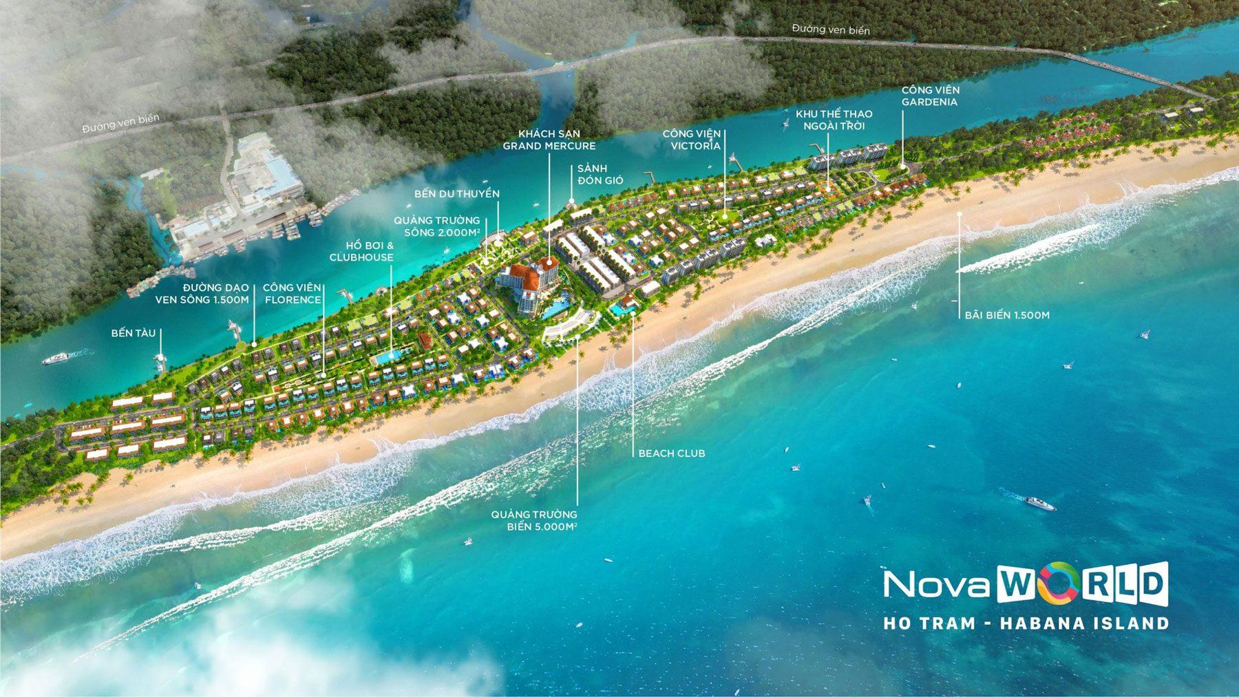 Phối cảnh Habana Island NovaWorld Hồ Tràm