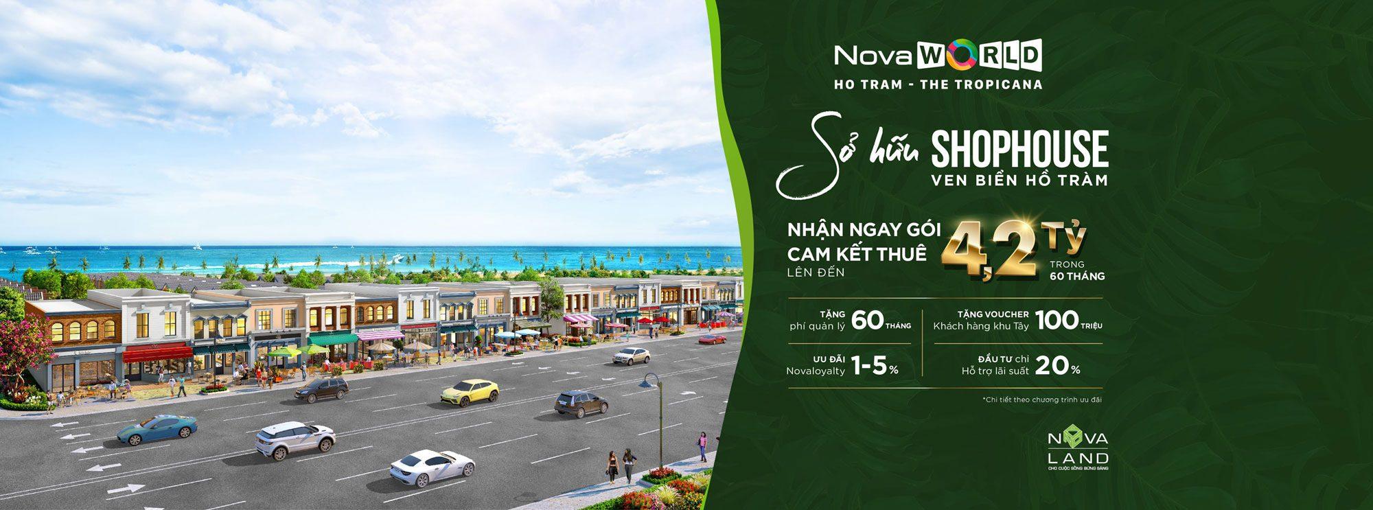 Shophouse Tropicana NovaWorld Hồ Tràm
