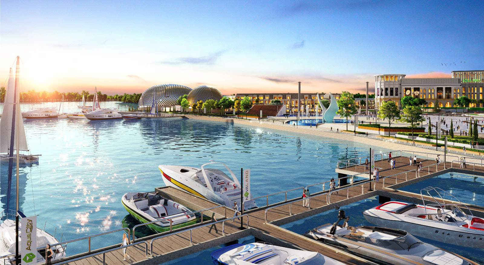 Bến Du Thuyền 5 sao Aqua Marina Aqua City