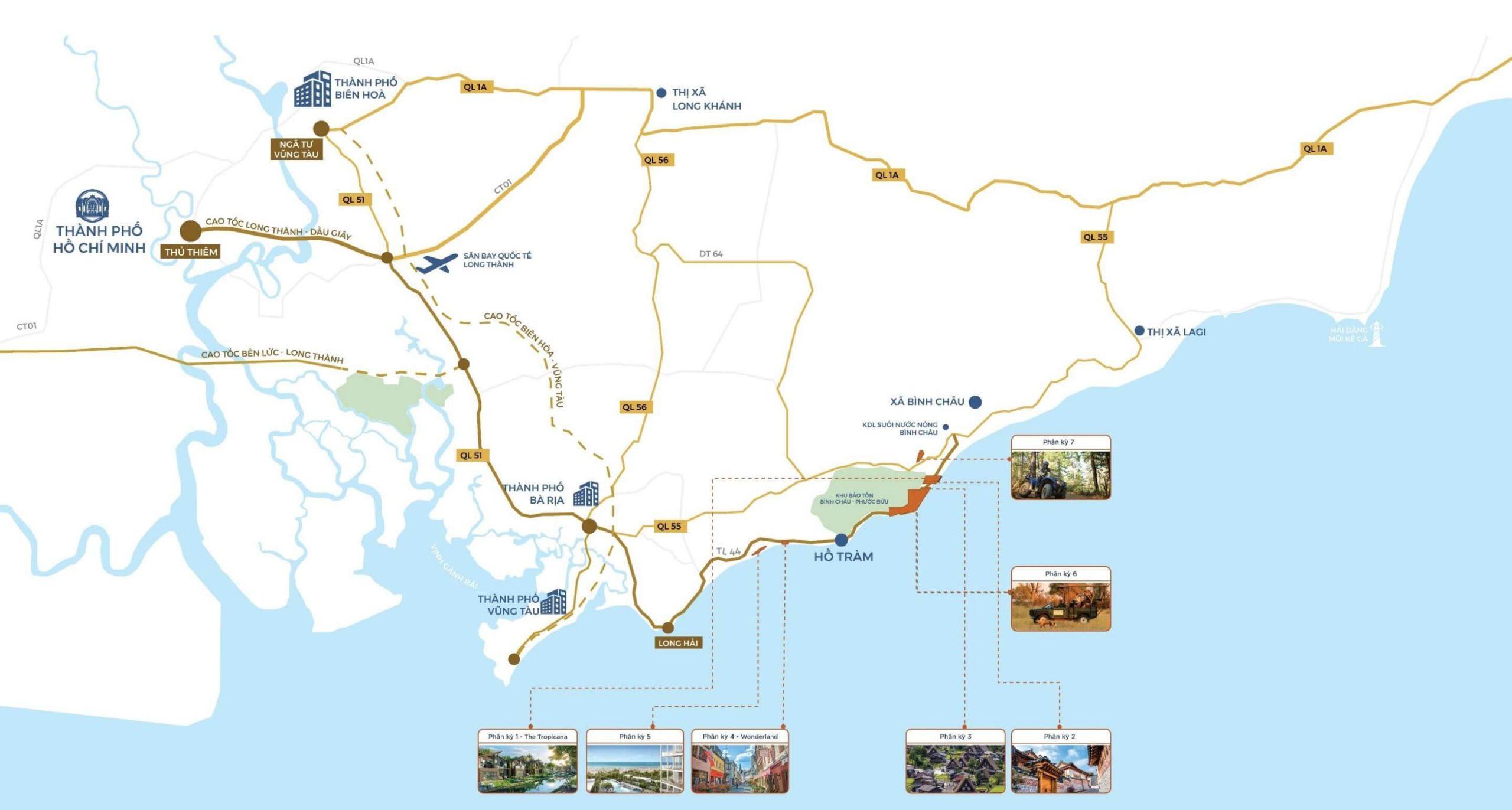 Vị trí NovaWorld Hồ Tràm ở đâu Bình Châu